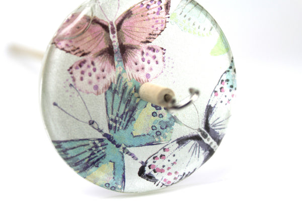 Butterfly Patterned Drop Spindle