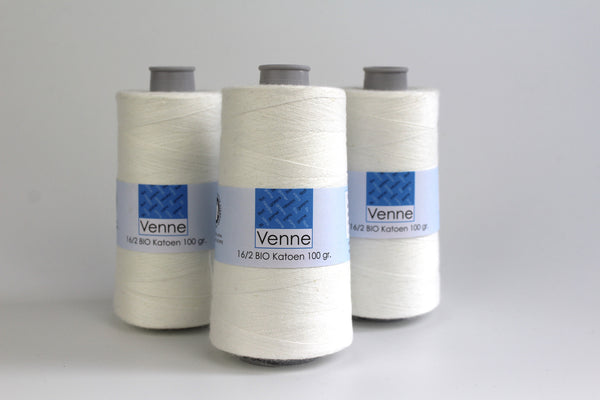 Fine Cotton Yarn On Cone - Plying, Auto-wrapping and weaving - 100g