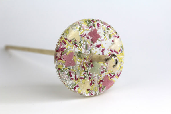 Candy Sprinkles  - Patterned Drop Spindle #108