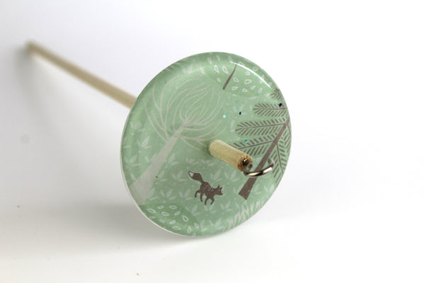 Forest Fox Patterned Drop Spindle #113