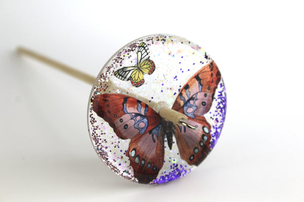 Butterfly Glittery Drop Spindle #127