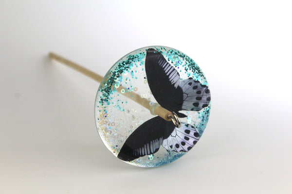 Butterfly Glittery Drop Spindle #130