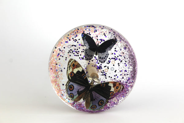 Butterfly Glittery Drop Spindle #131