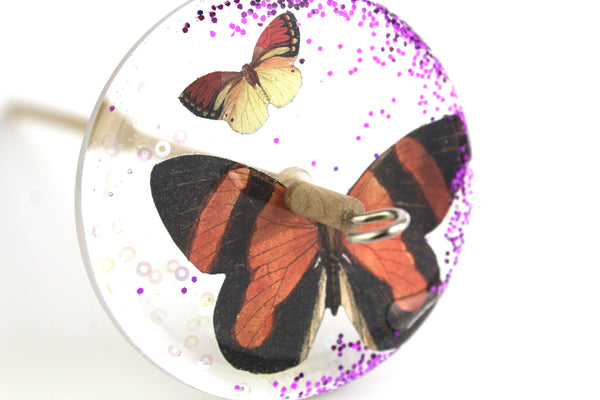 Butterfly Glittery Drop Spindle #132