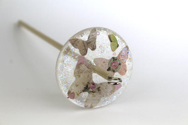 Butterfly Glittery Drop Spindle #133