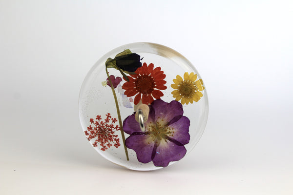 Pressed Flowers Drop Spindle #188