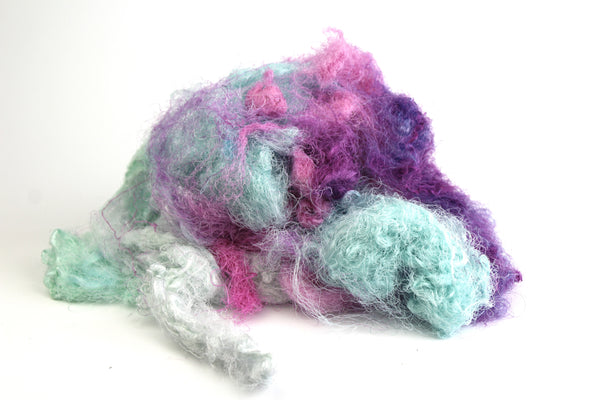 Silk Throwsters Waste - 30g mixed colours
