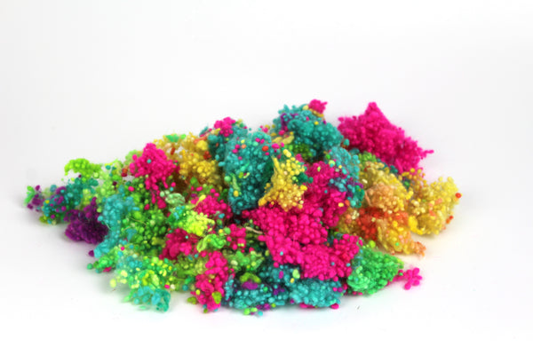 Wool Confetti - Mixed Rainbow Dyed Wool Neps