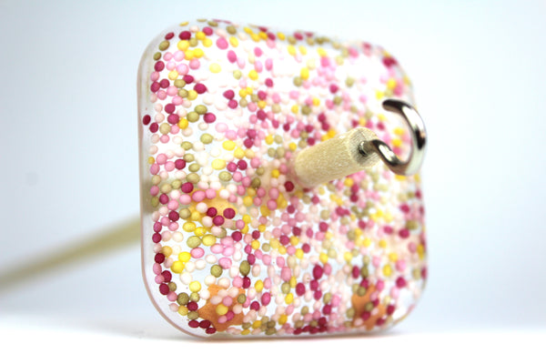 Cupcake Sprinkles Square Drop Spindle #236