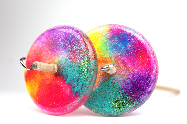 Rainbow Glitter Drop Spindle #255