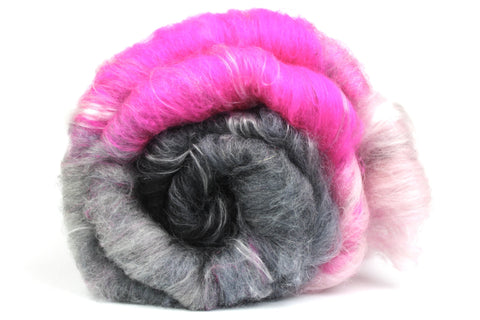Fade to Pink - Gradient Batt  - Hand Carded Batt For Spinning Or Felting