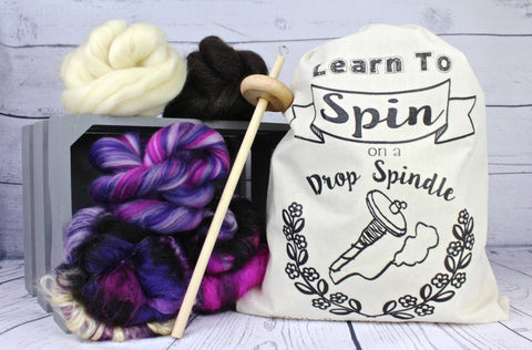 Luxury Drop Spindle Starter Kit with Project Bag