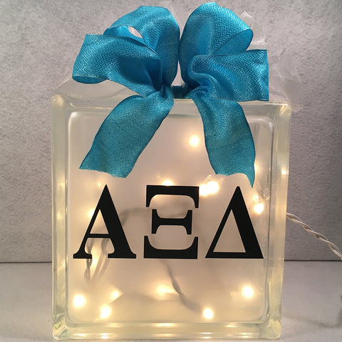 Sorority Lighted Glass Block