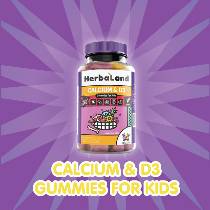 Herbaland Calcium D3 Vegan Gummies for Kids