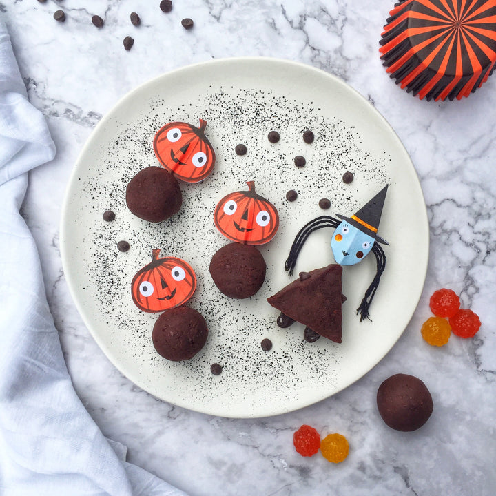 Perfect Healthy Halloween Snack - Red Bean Truffles