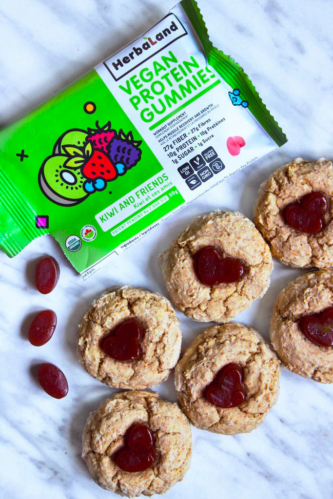 Vegan Thumbprint Cookies with @ItsTheVeganBean