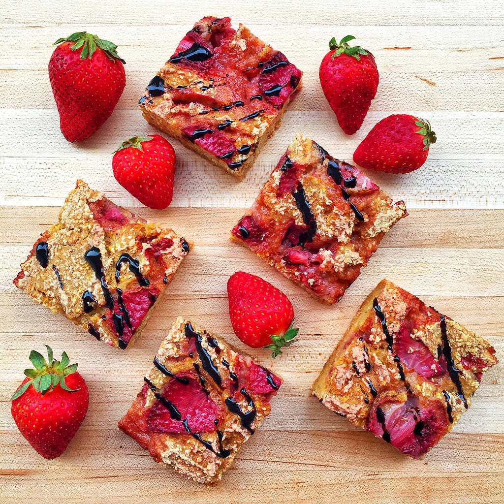 Herbaland Foodie: GF Strawberry Balsamic Breakfast Bars