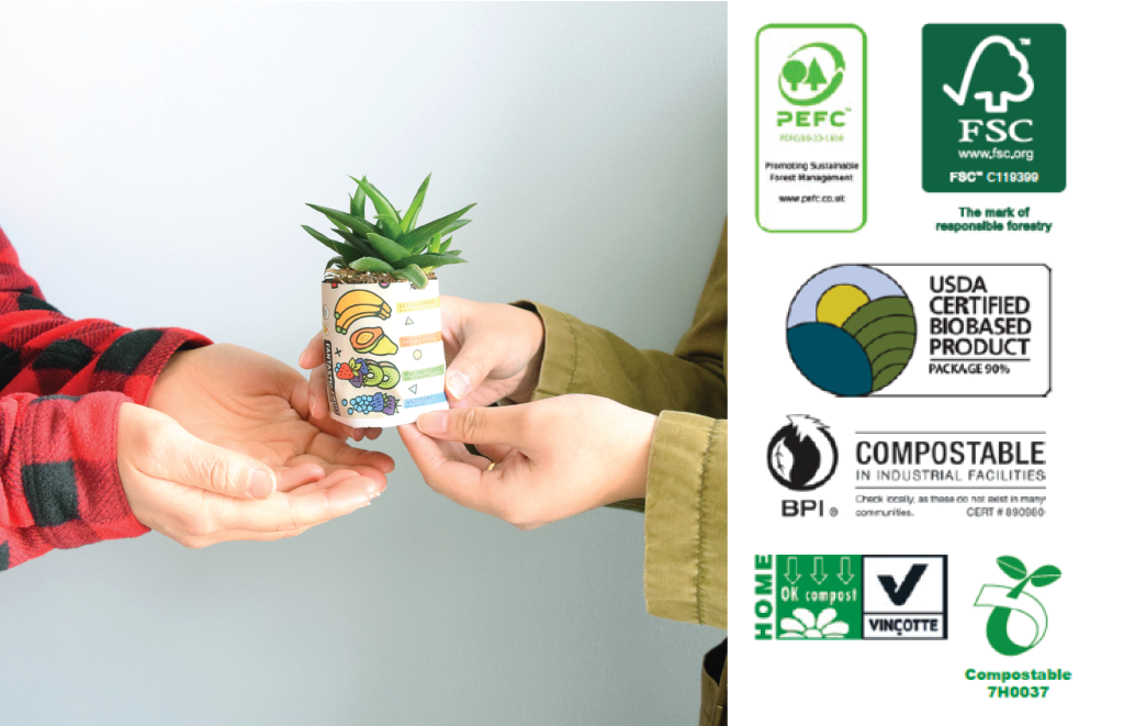 Sustainability: New Compostable Pouches – Herbaland Naturals Inc