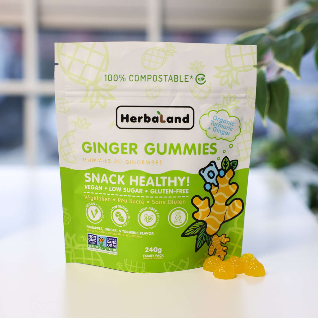 Pineapple Ginger Gummies - Snack Healthy Pack (Case) - Herbaland