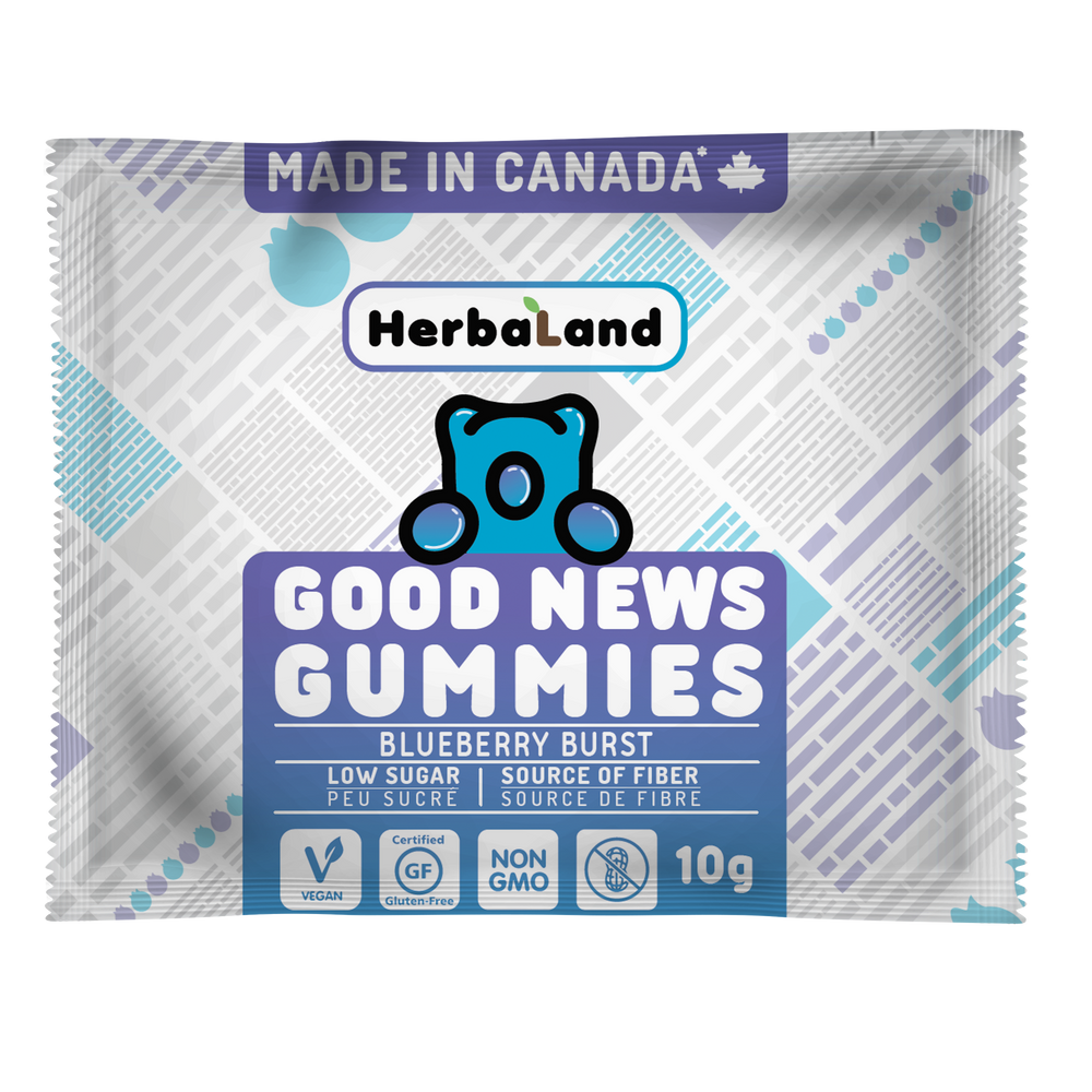 Good news gummies samples case: Blueberry Burst | Clean Candy
