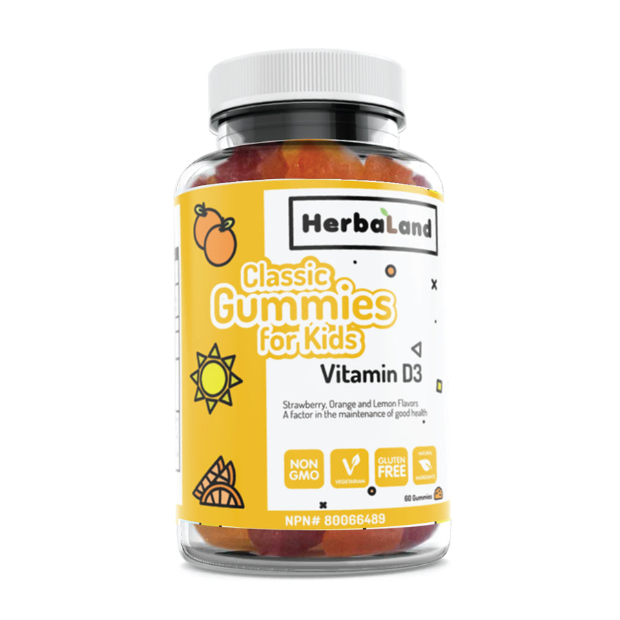 Vitamin D3 Classic Gummies for Kids - Herbaland
