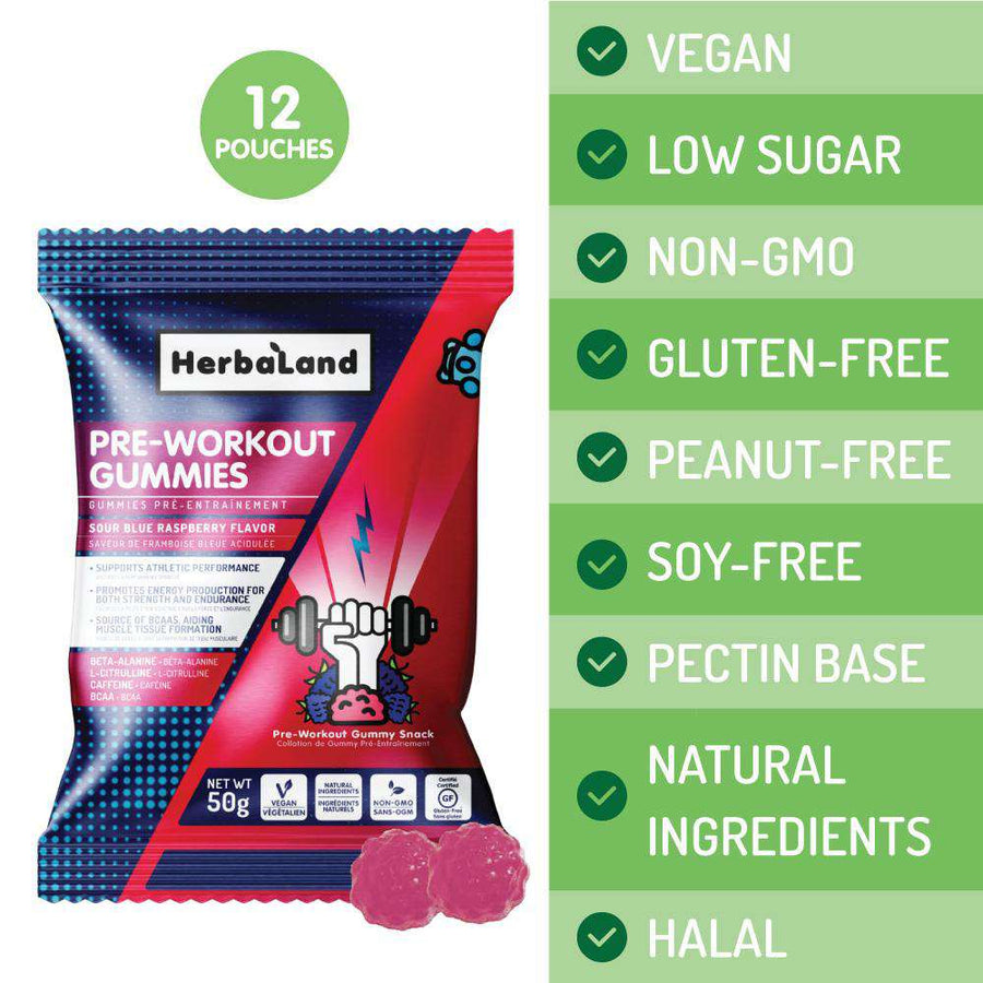 Pre-Workout Fitness Gummies | Case - Herbaland