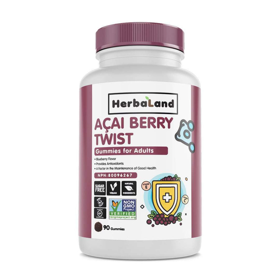 Acai Berry Twist Gummies for Adults (Sugar-Free) - Herbaland