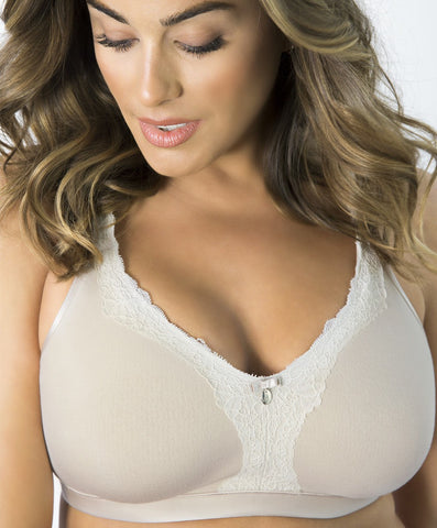Curvy Couture Luxe Cotton Wireless Bra