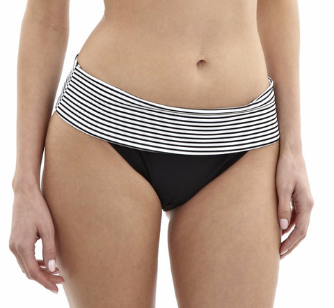 Panache Anya Stripe Fold Over Swim Pant