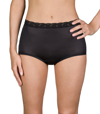 Shadowline Nylon Classics Brief with Lace