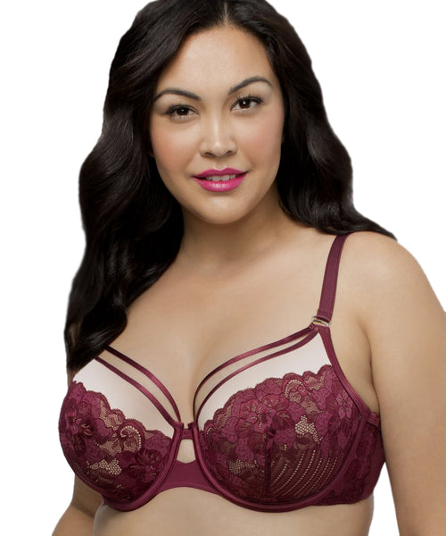 Curvy Couture Tulip Strappy Push Up Bra