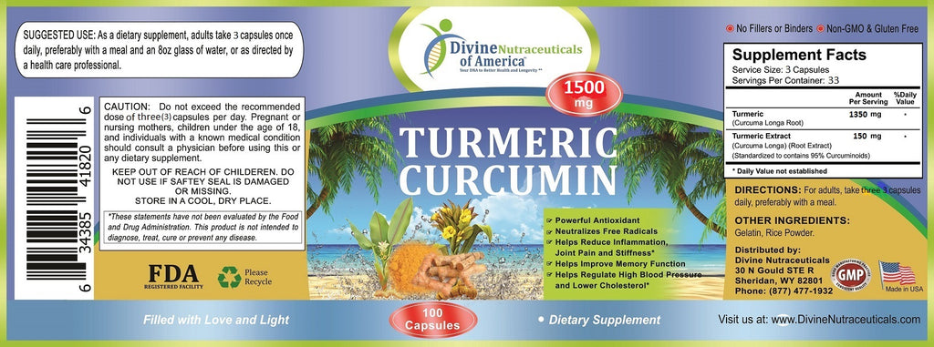 Turmeric Curcumin 1500mg + Colon Cleanse Detox Kit