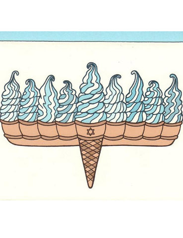 Ice Cream Menorah Hanukkah Card
