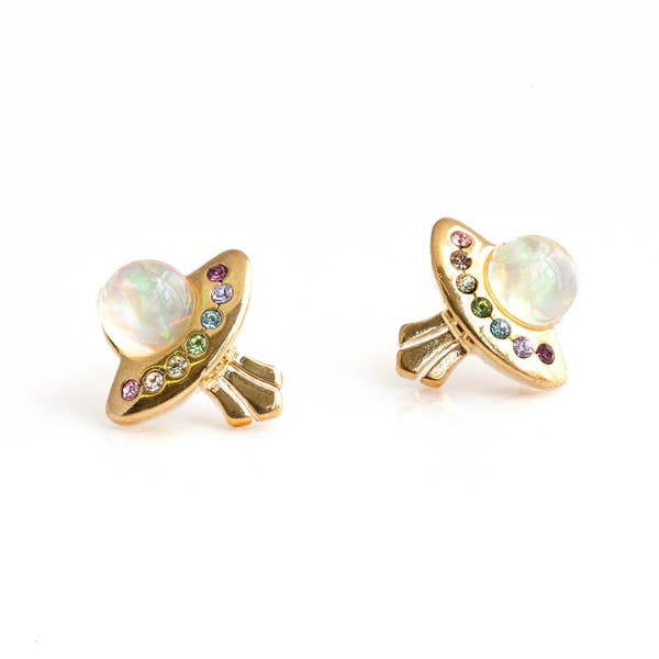 Rainbow UFO Stud Earrings