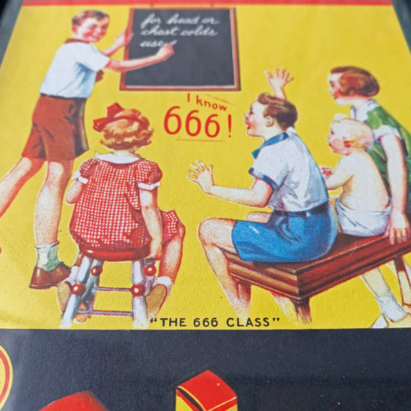 The 666 Class - Vintage Framed Advertisement