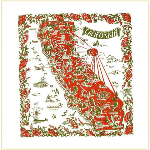 California Map Souvenir Towel