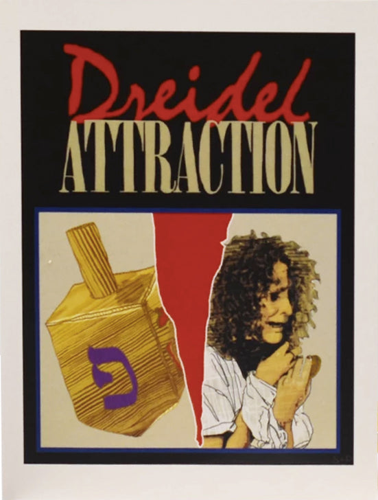 Dreidel Attraction Hanukkah Card