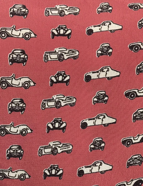 Wide Leg Overalls - Red Cars