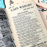 Vintage Lifestyle Advice Book - How To Gain Weight