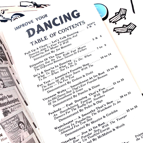 Vintage Lifestyle Advice Book - Improve Your Dancing