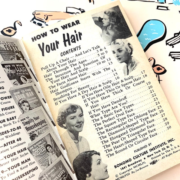 Vintage Lifestyle Advice Book - How To Wear Your Hair