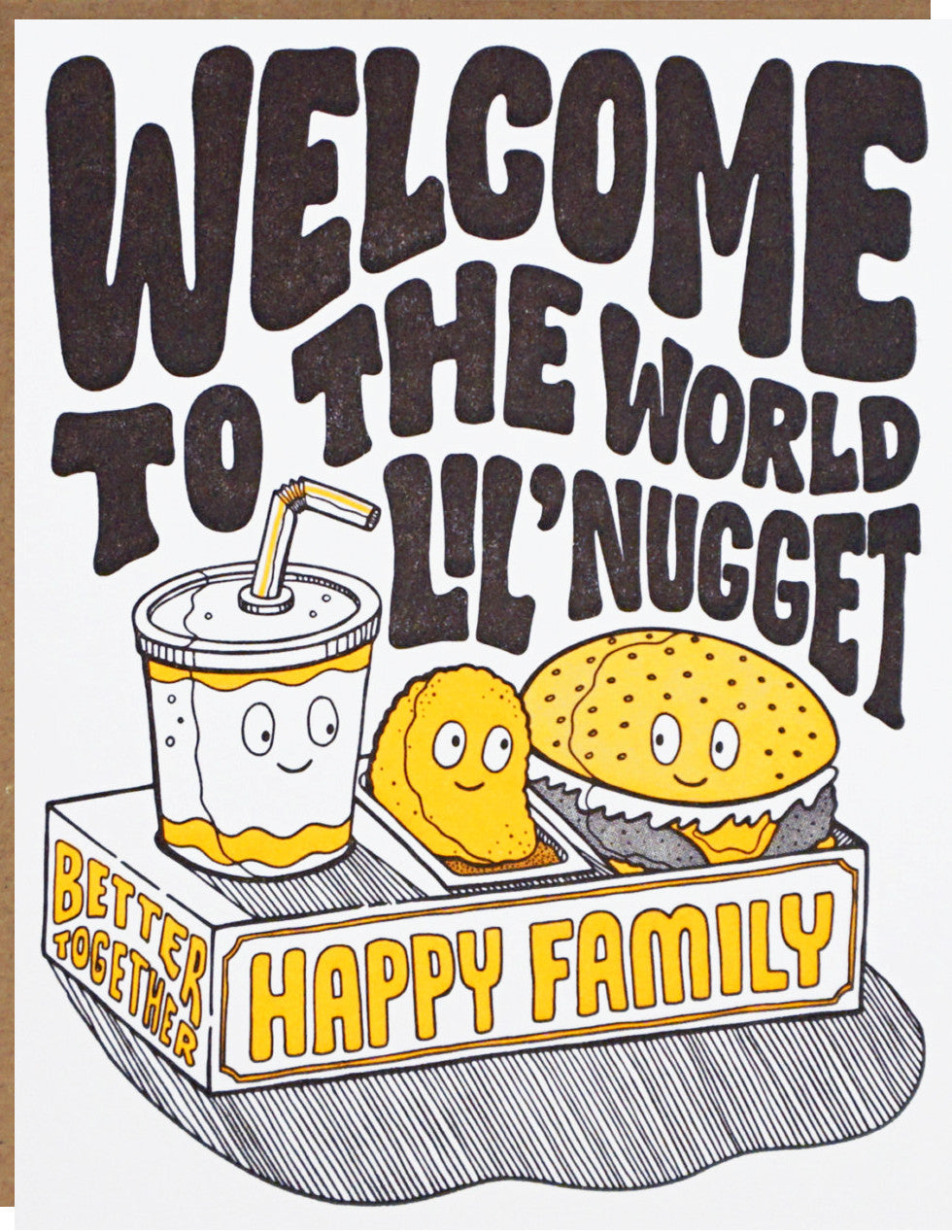 Welcome To The World Lil Nugget Baby Card