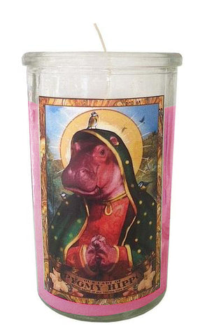 Our Lady of Pygmy Hippo - Curious Saint Candle