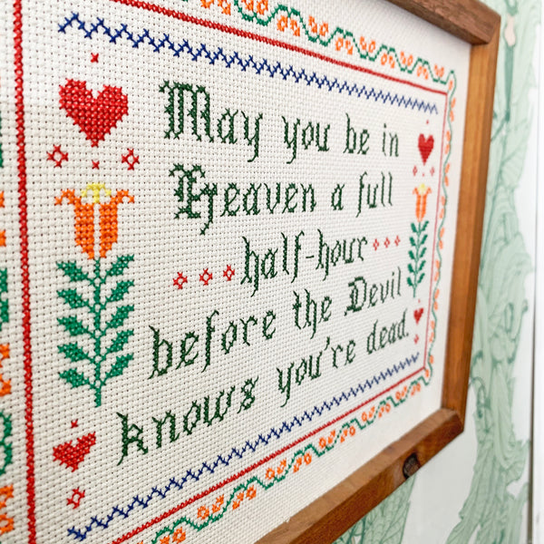 Handmade Cross-Stitch - The Devil Knows