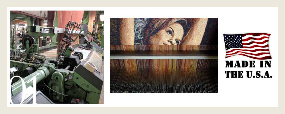 Woven tapestry decor made from photo