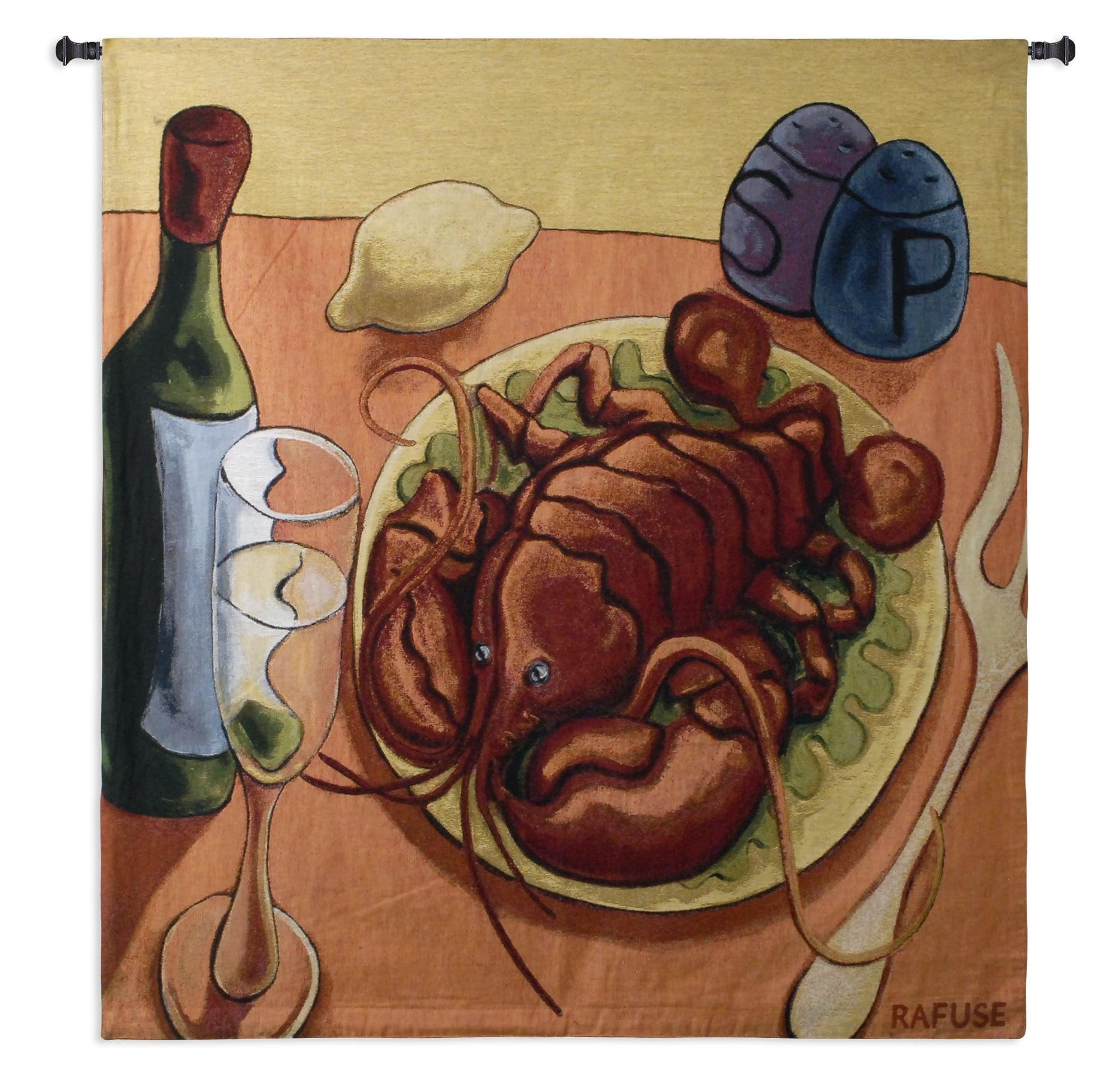 Lobster Fest Woven Textile Tapestry