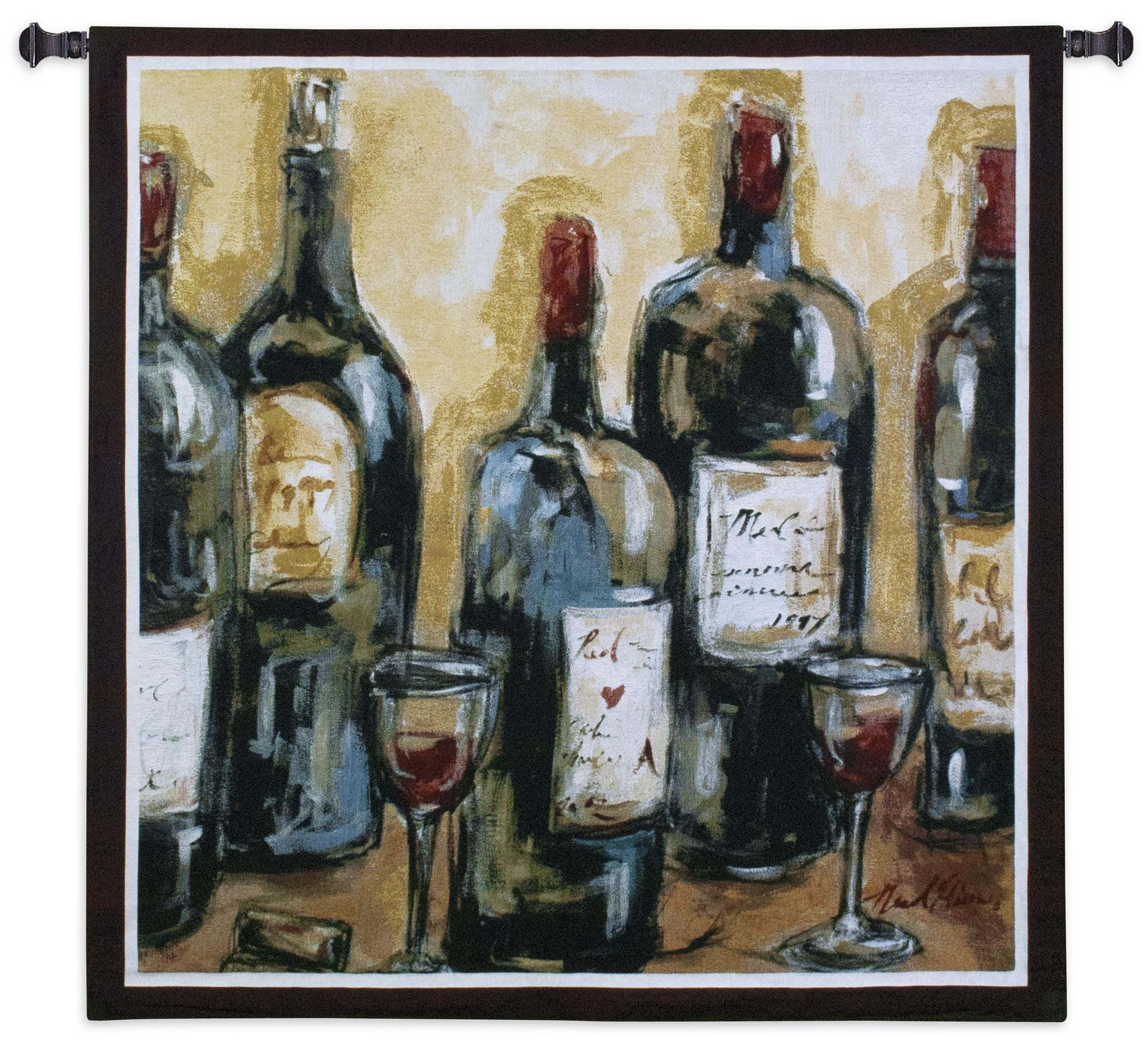 Abstract Wine Bar Woven Bar Tapestry Wall Hanging