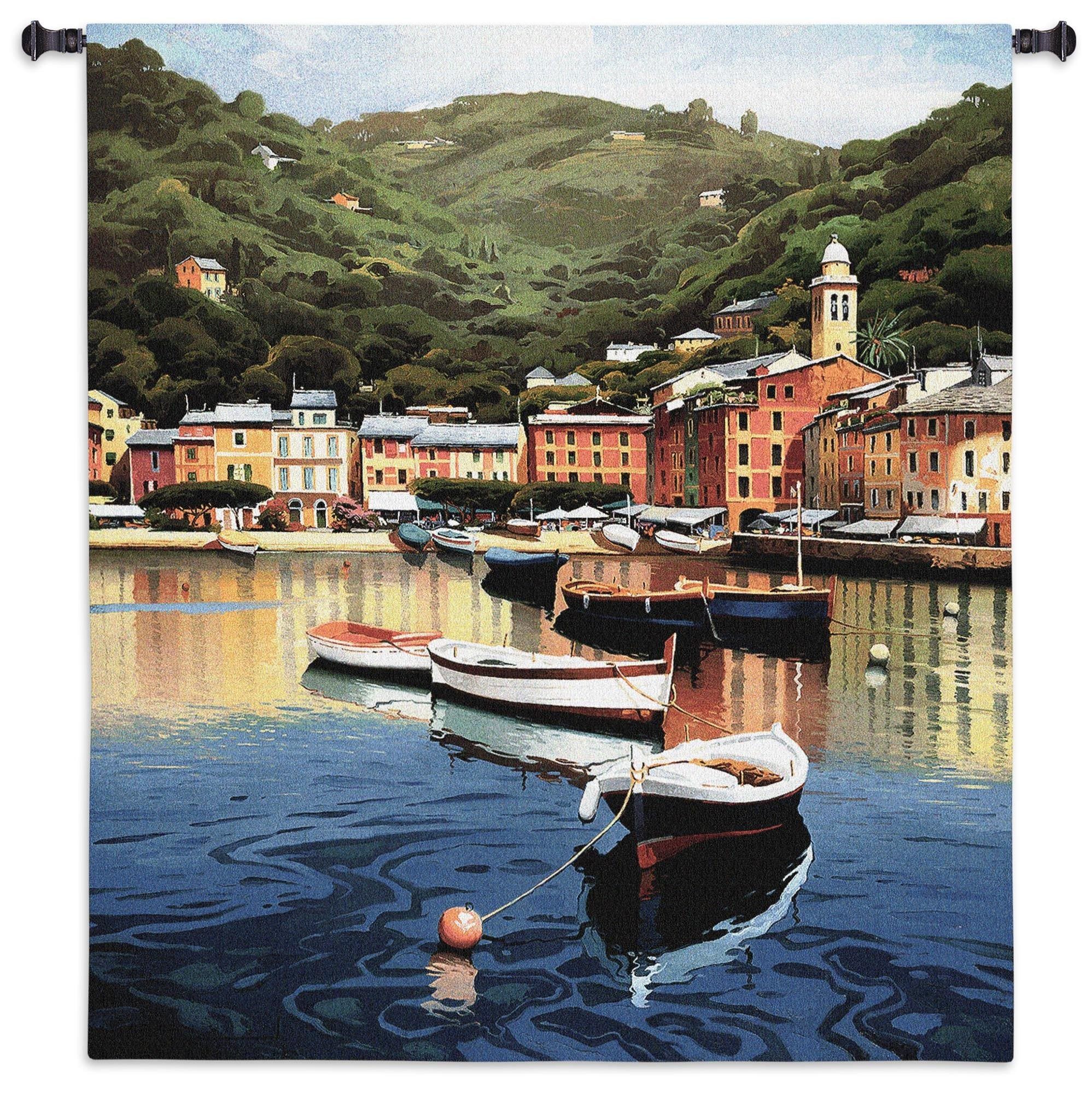 Harbor at Last Light Tapestry Room Hanging