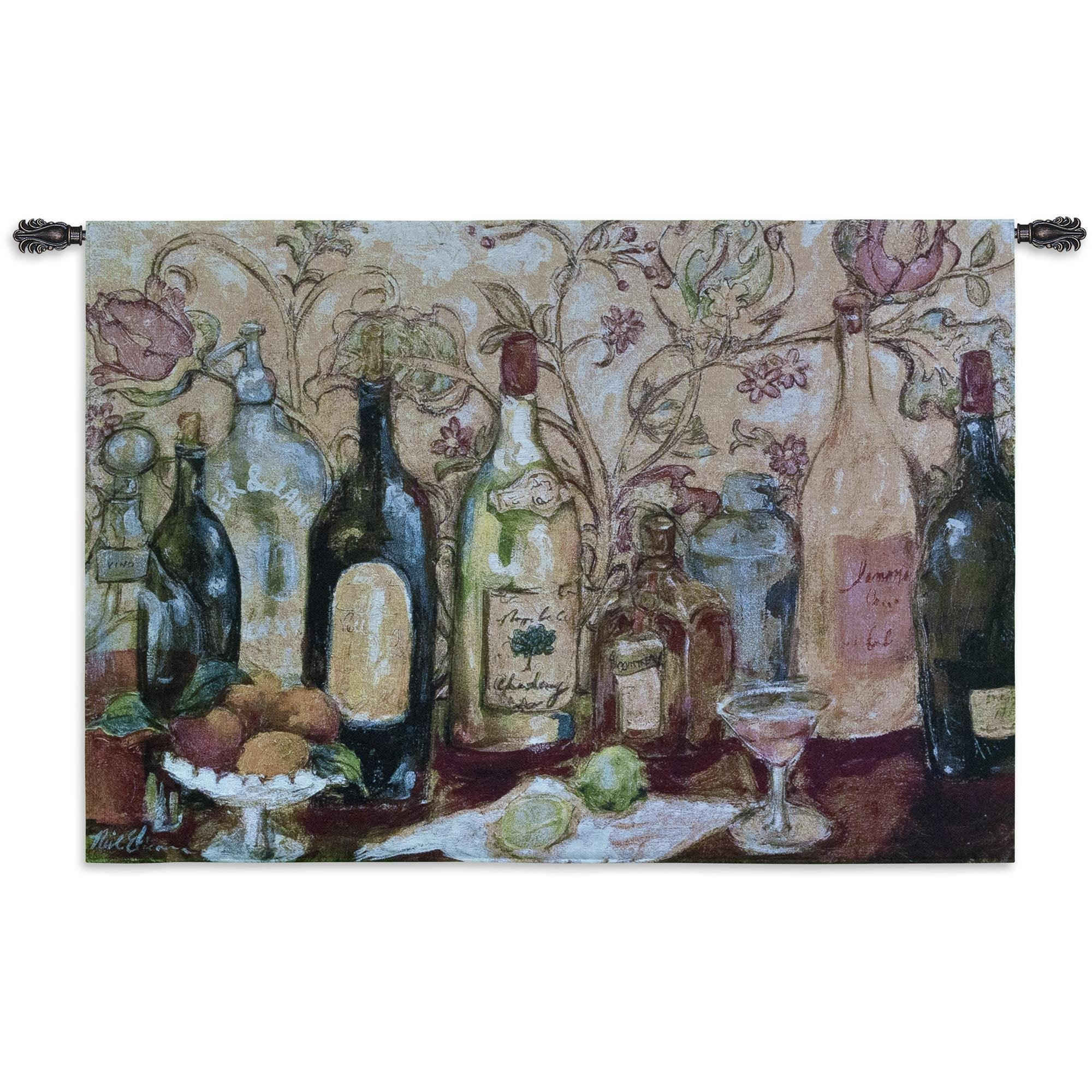 Bar with Pink Drink Tapestry Wall Hanging