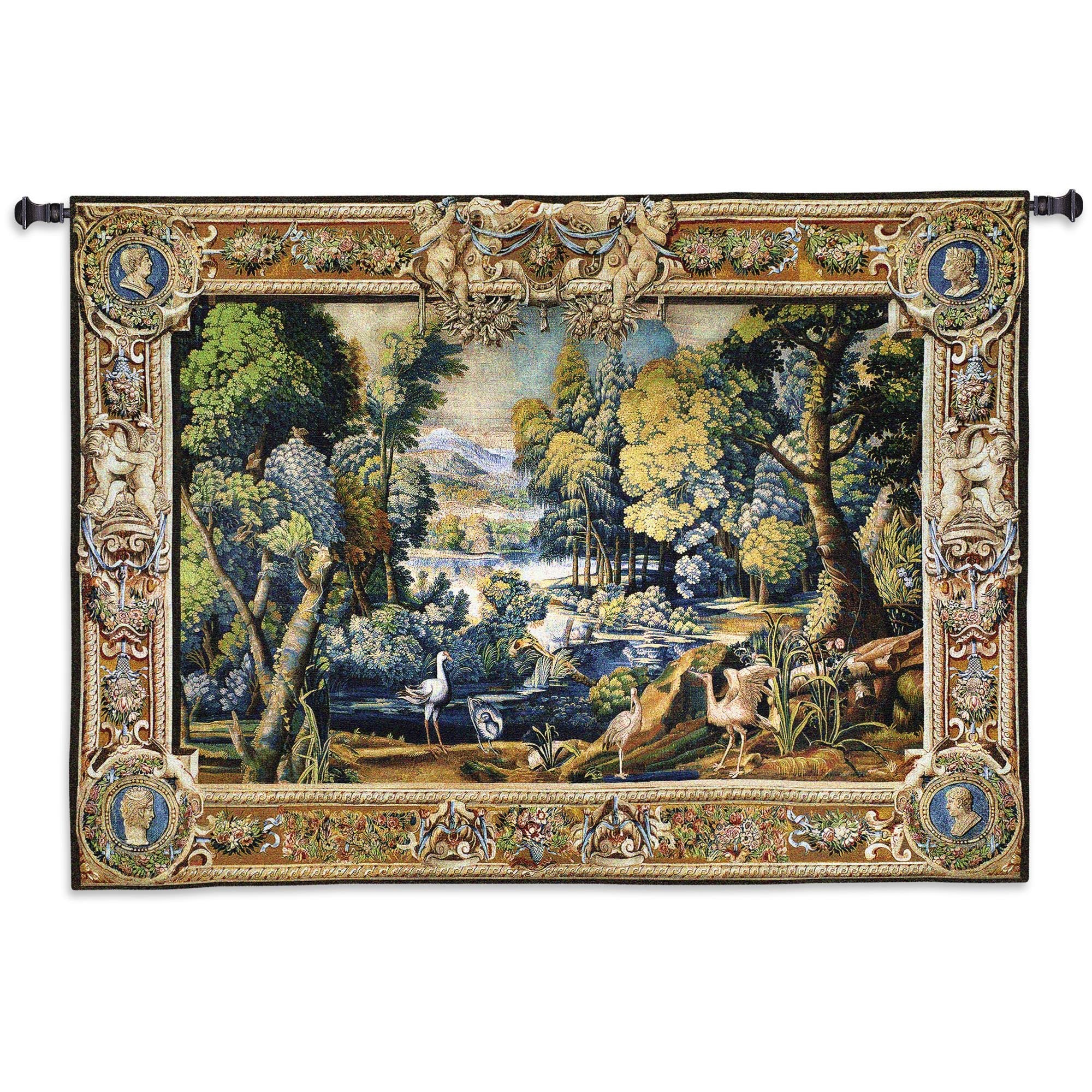 15th century Historical Animals and Wildlife Wall Hanging Tapestry